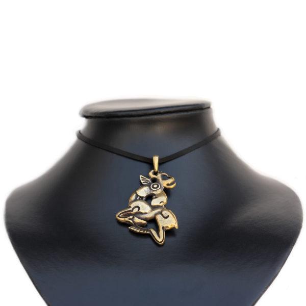 украшения из бронзы кулон лось в скифском стиле