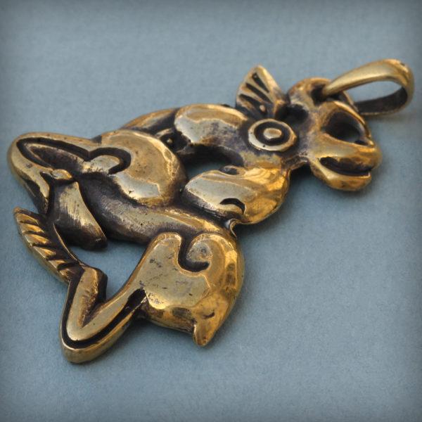 бронзовый кулон лось звериный стиль