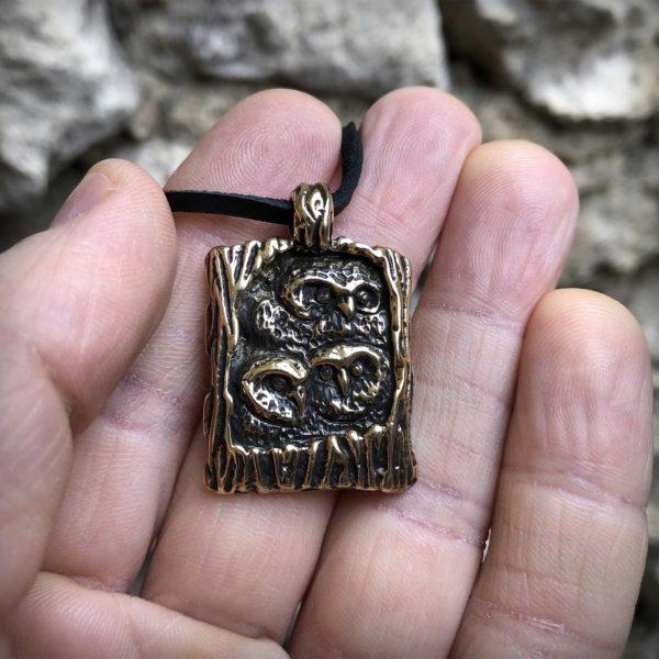 сова кулон бронзовый что привезти из крыма в подарок