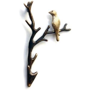 купить авторские украшения ручной работы подвеску птичка соловей на ветке