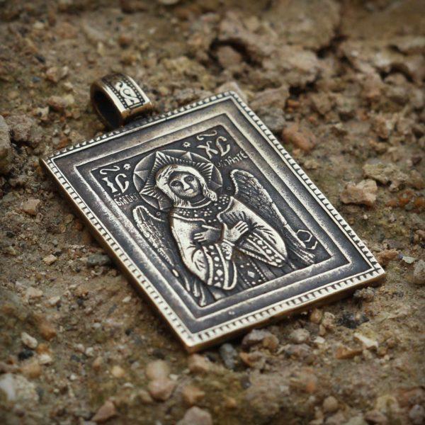 спас благое молчание кулон бронзовый икона купить в симферополе христианские украшения