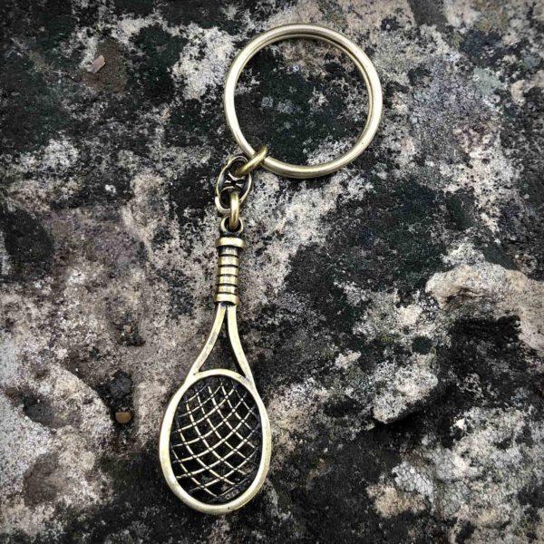 теннисная ракетка брелок бронзовый кулон подарок теннисисту