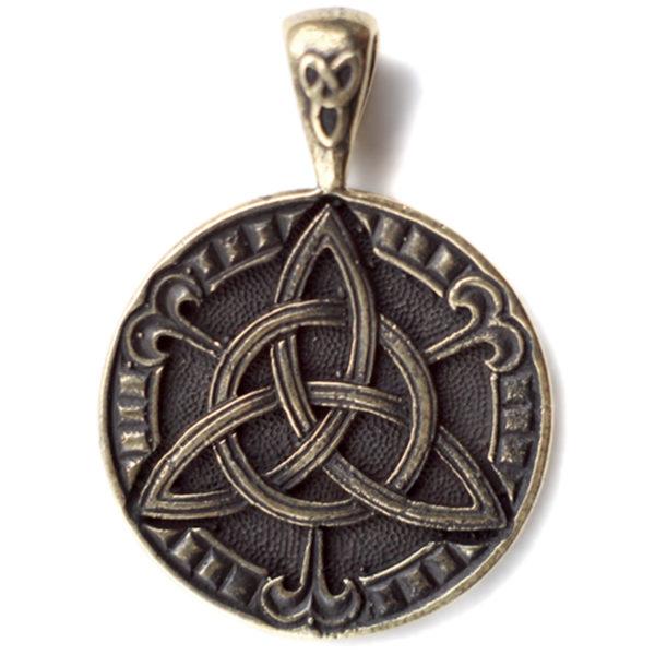 купить бронзовую подвеску-медальон в виде клевера-четырехлистника в симферополе
