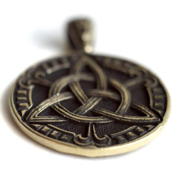 купить талисман украшение в виде листика клевера четырехлистного бронзовый кулон