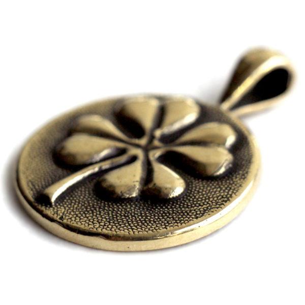 купить талисман на удачу бронзовый кулон клевер в симферополе подарок