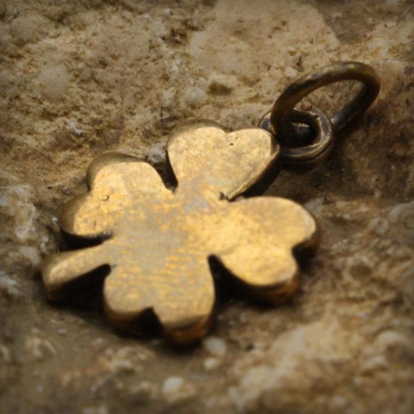 славянский оберег на удачу клевер четырёхлистник купить кулон бронзовый