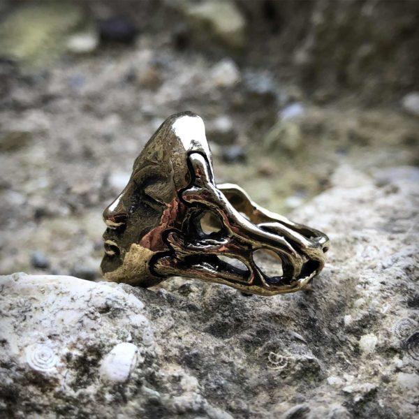 кольцо с черепом 20 мм