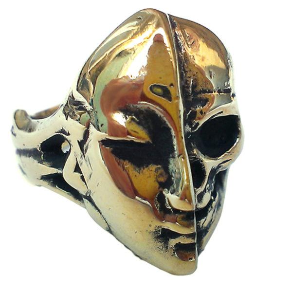 кольцо с черепом бронзленд