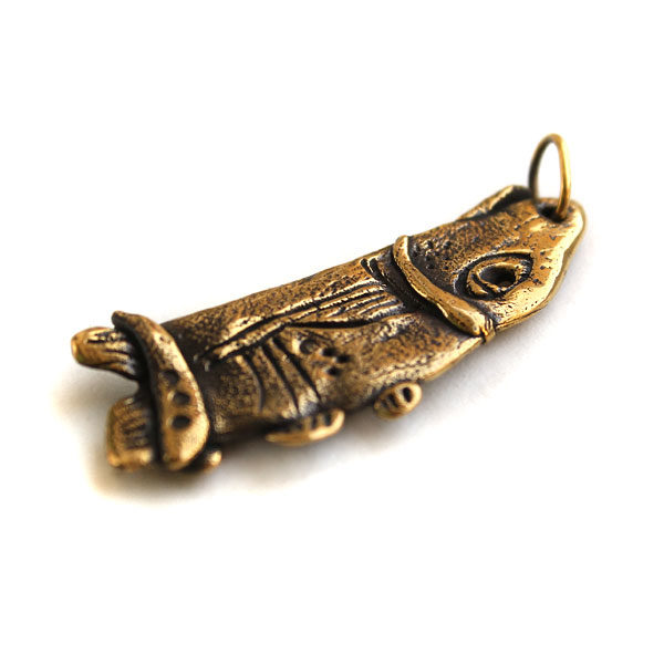 Подвеска из латуни Рыба Большой массивный кулон