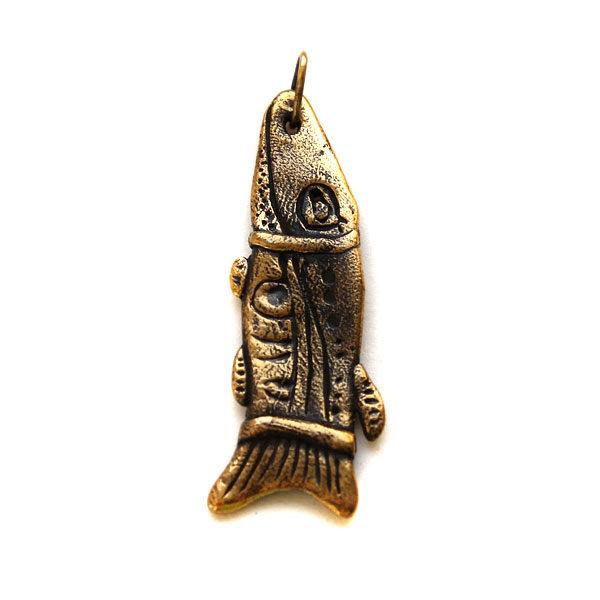Красивый мужской кулон на шею для знака зодиака рыбы