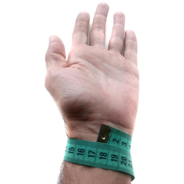 измерить размер запястья для браслета бронзленд