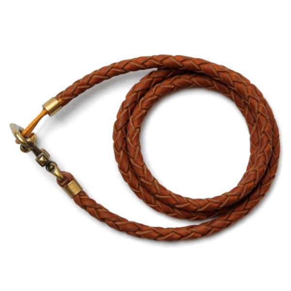 кожаный коричневый браслет с якорем купить