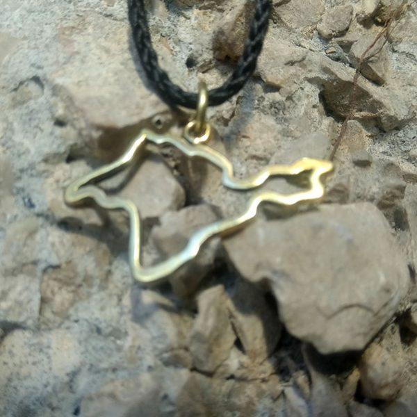 крымский сувенир из бронзы кулон подвеска крым