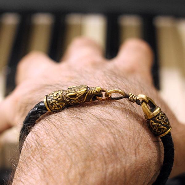 мужские браслеты викингов 2018 тотемные браслеты с животными волками из латуни металла