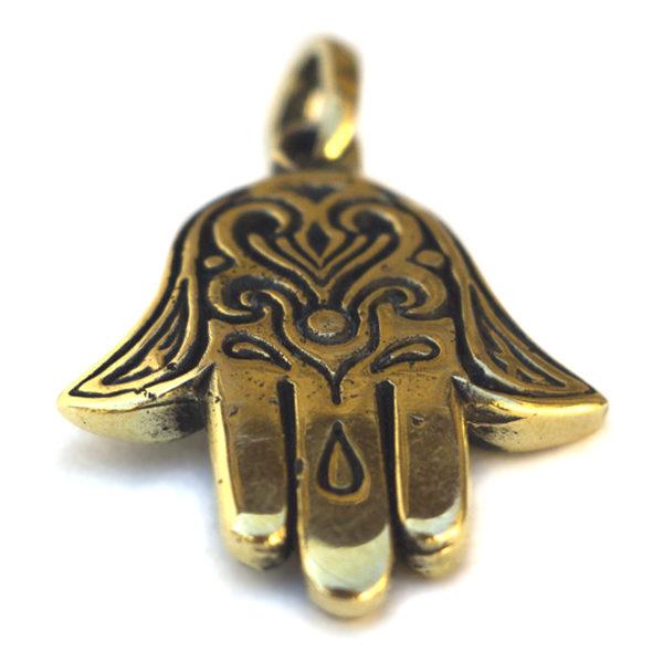Купить украшение на шею амулет хамса из металла бронзовые изделия BRONZ LAND BRONZE LAND