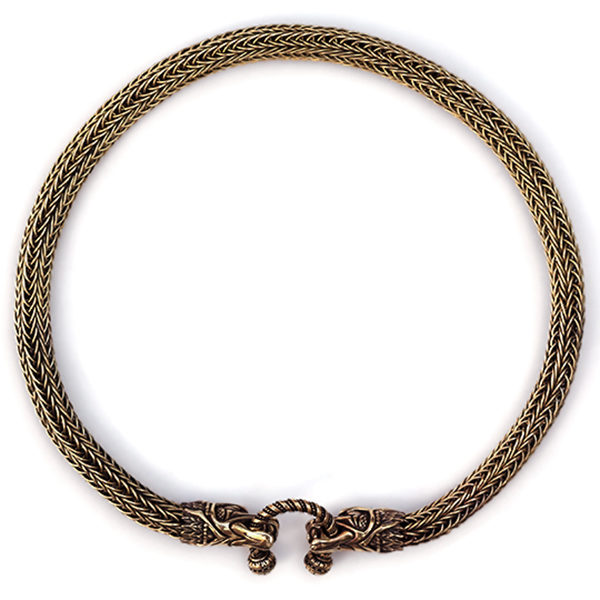 Купить металлический чокер на шею для парня колье из проволоки викинг книт дракон