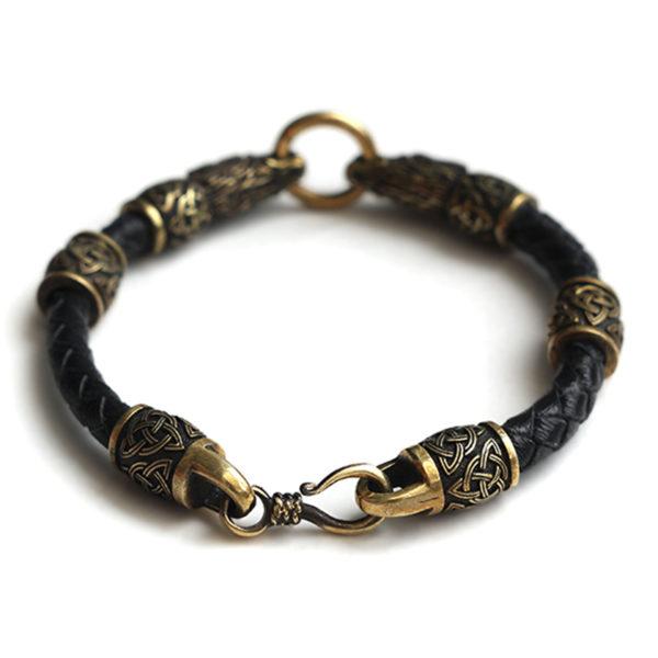 мужские браслеты на руку из кожи с бронзовыми оконцовками купить бижутерия из бронзы купить