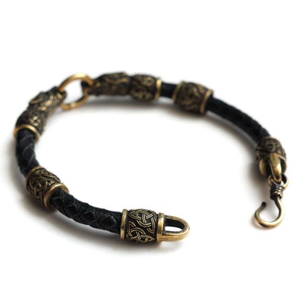 купить кожаный браслет в интернет-магазине кельтские и скандинавские этническая украшения из бронзы