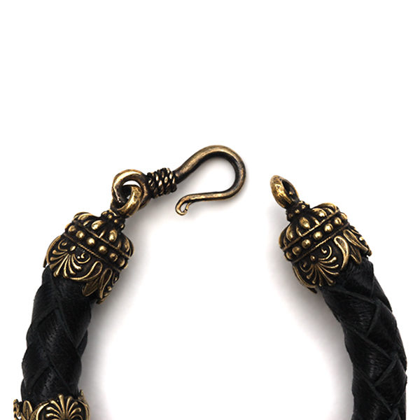 черный браслет на руку мужской купить браслеты с головами животных тотем пантера