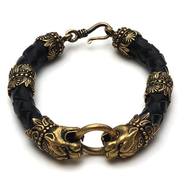КУпить браслеты талисманы с головами зверей животных пантеры симферополь