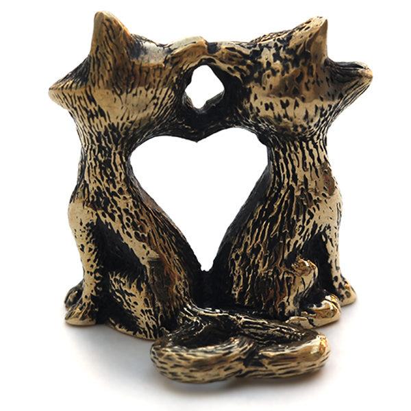 Купить подарок на день святого валентина жене фигурки котов авторская работа