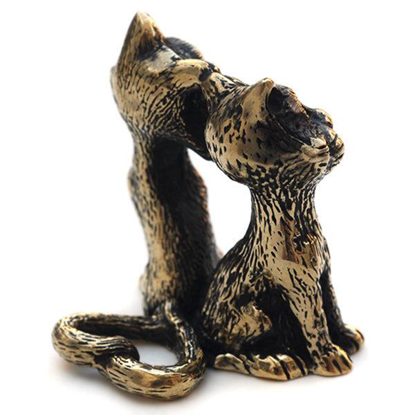 Купить прикольные подарок на 14 февраля любимому статуэтка кошка бронза симферополь