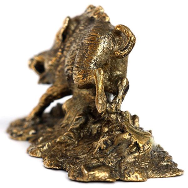 Бегущий кабан бронзовая статуэтка купить оптом в крыму подарок в симферополе