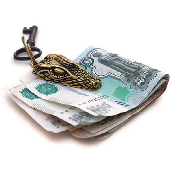 зажим для денег брелок крокодил бронзовый купить в симферополе подарок парню