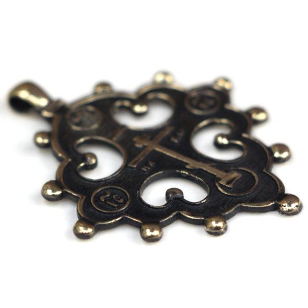 Процветший крест двенадцатиконечный проросший крест криновидный из бронзы купить в крыму подарок