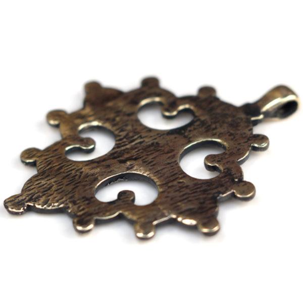 Процветший крест двенадцатиконечный проросший крест криновидный из бронзы купить подарок в крыму