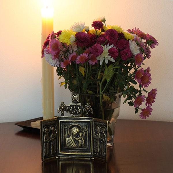 триптих складень казанская икона божией матери купить