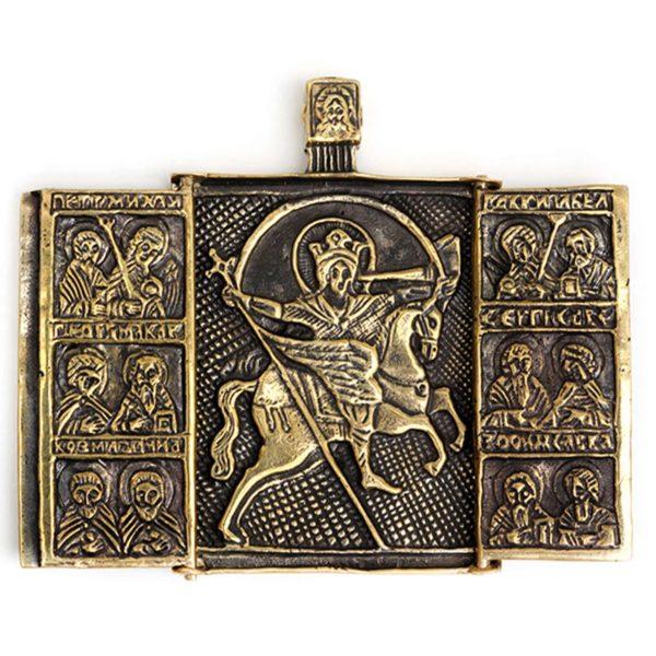 купить старообрядческие иконы литые архангел михаил складень