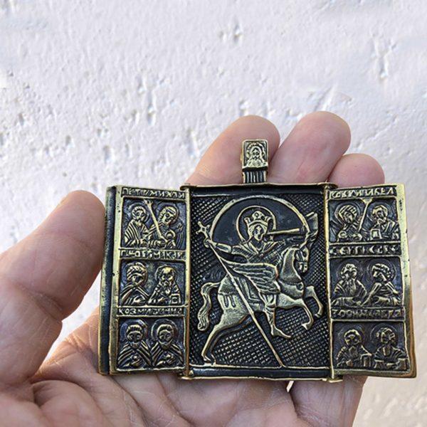 икона оберегающая в дороге иконка архангела михаила купить