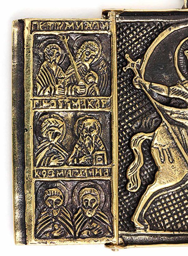 бронзовая икона триптих складень архангел михаил купить