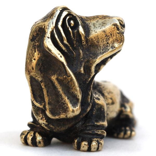 подарок собачнику статуэтка собака фигурка бассет-хаунд
