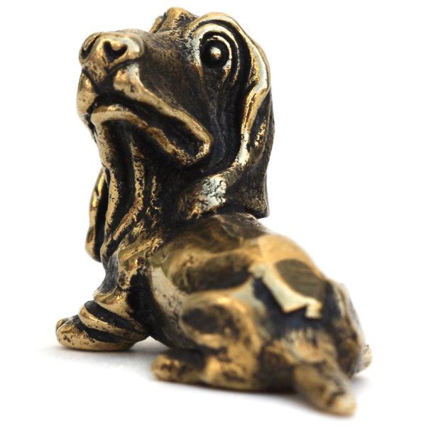 бронзовая собака фигурка бассет-хаунд статуэтка