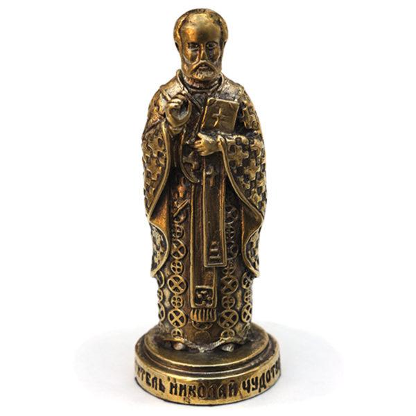 Санта Клаус Николай Чудотворец бронзовая статуэтка купить в симферополе