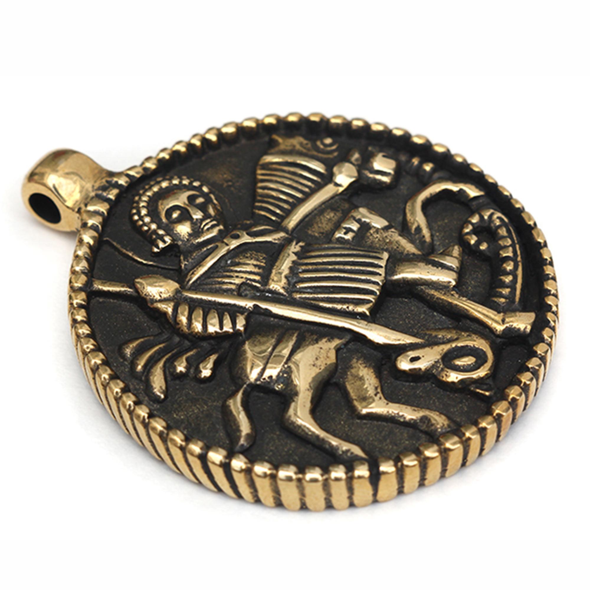 бронзовый кулон георгий победоносец змеевик купить в симферополе