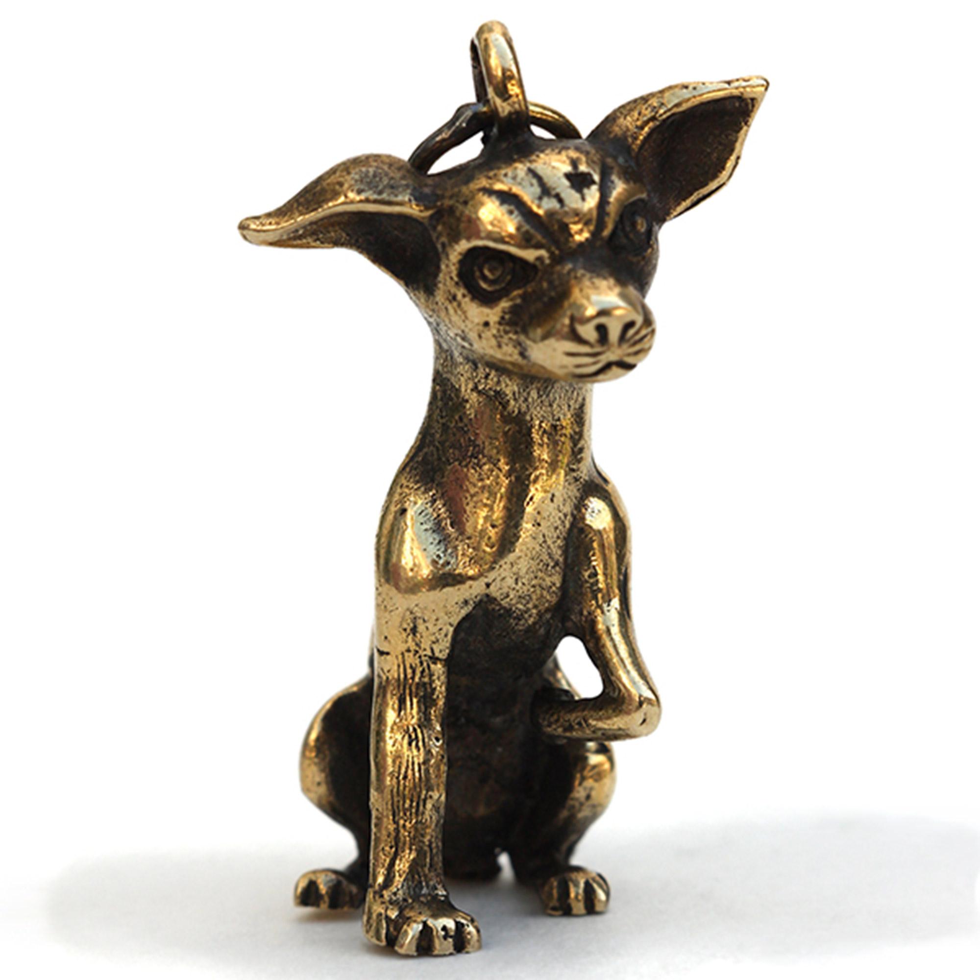 русский той бронзовый брелок собака той-терьер подарок купить в крыму в симферополе