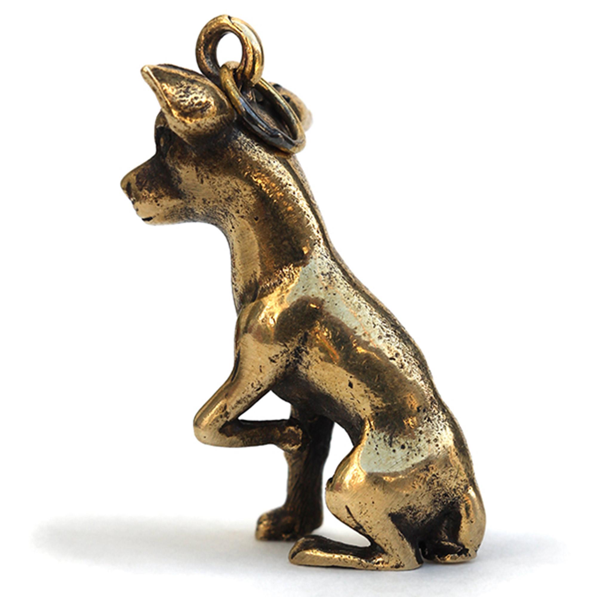 русский той бронзовый брелок собака той-терьер купить в симферополе в крыму подарок из крыма