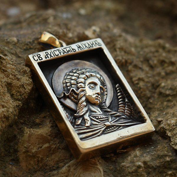 бронзовый кулон икона Архангел Михаил купить