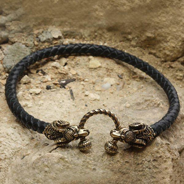 кожаное ожерелье чокер с баранами подарок овнам купить в симферополе