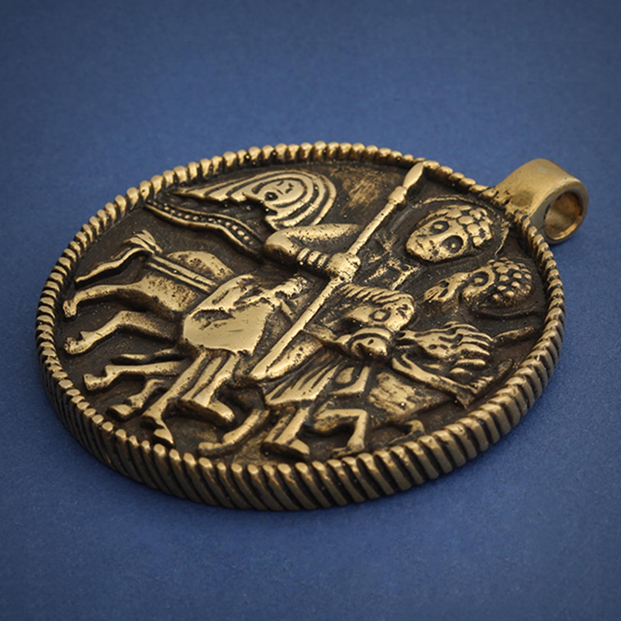 змеевик бронзовый кулон феодор стратилат купить в симферополе в крыму оптом христианские украшения