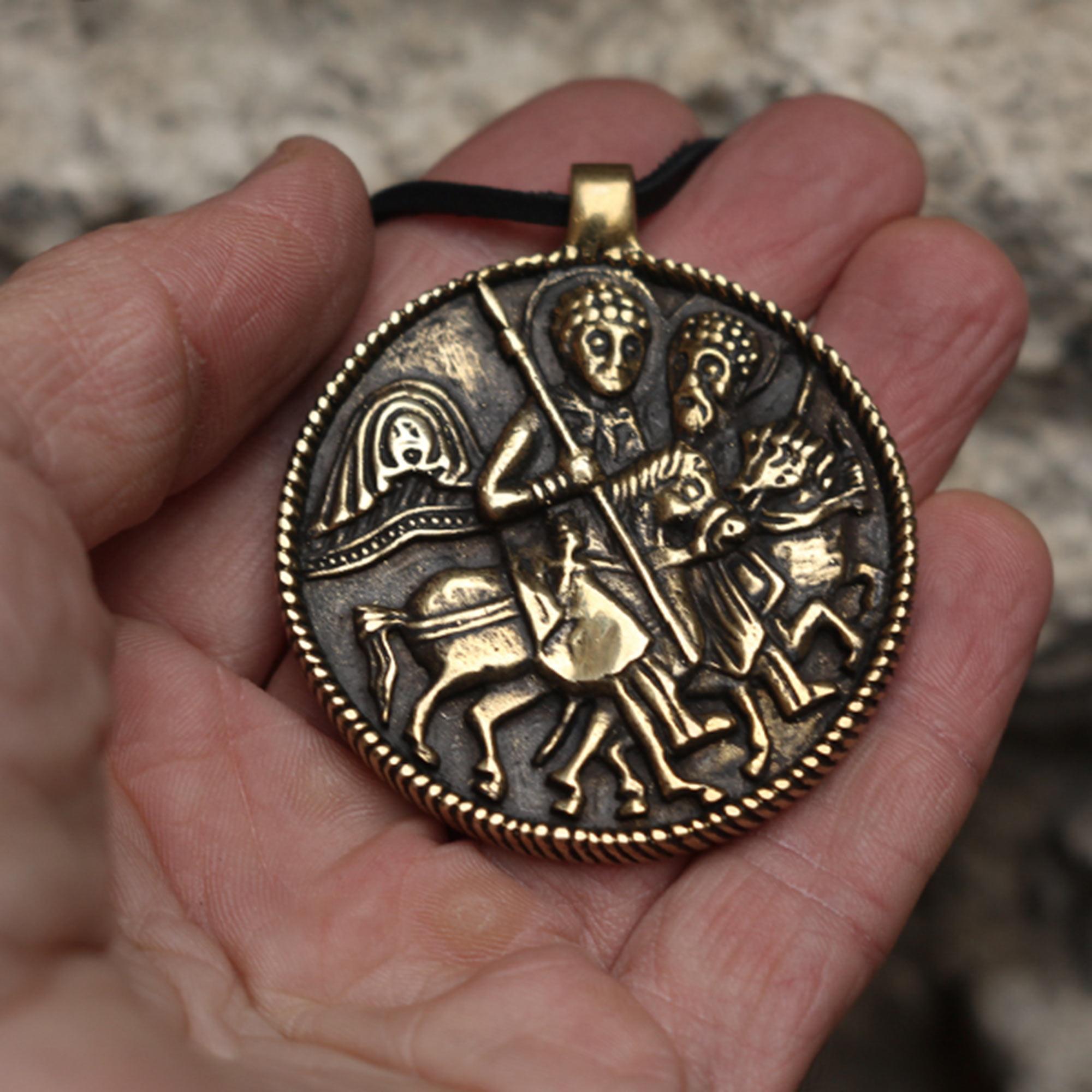 змеевик бронзовый кулон георгий победоносец купить в симферополе в крыму оптом христианские украшения