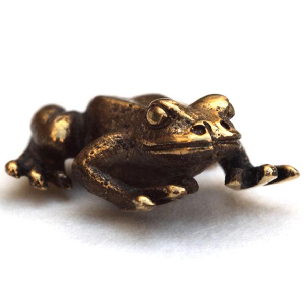 денежная жаба в кошелёк лягушка бронзовая