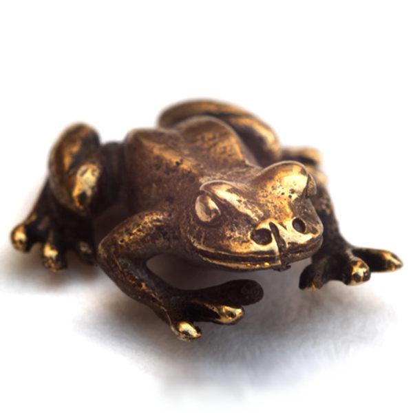 кошельковая лягушка из бронзы купить бронзленд