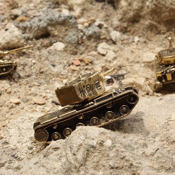 танк КВ-2 миниатюрная бронзовая модель высокая детализация купить в симферополе