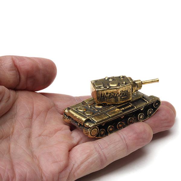 танк КВ-2 миниатюрная бронзовая модель высокая детализация