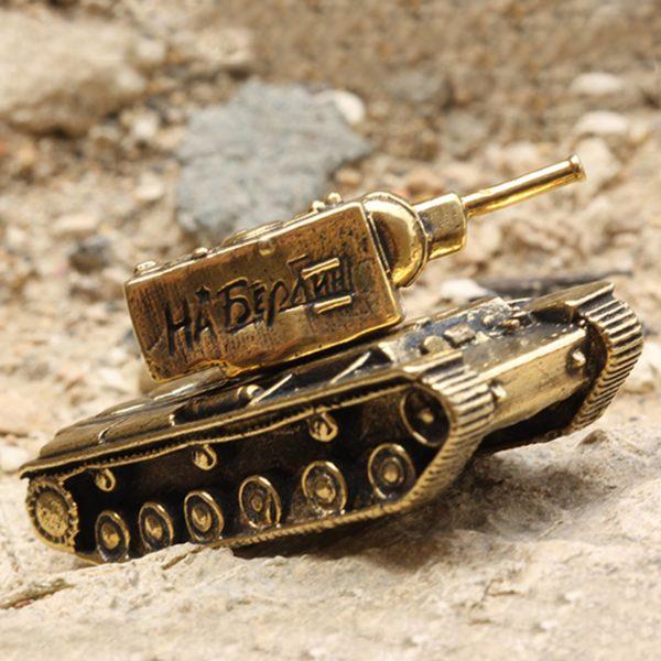 танк КВ-2 миниатюрная бронзовая модель высокая детализация купить в симферополе подарок из крыма