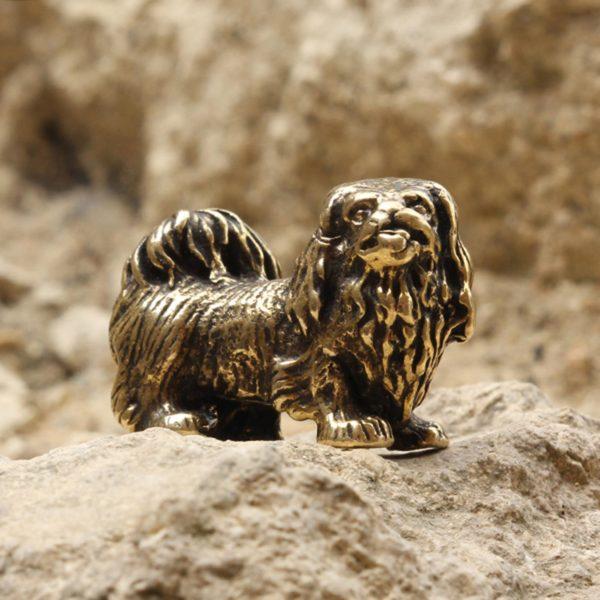что привезти из крыма бронзовая статуэтка пекинес собака статуэтка